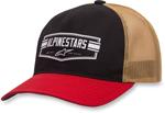 Alpinestars EMBLEM Curve-bill Snap-Back Trucker Hat/Cap (Black)