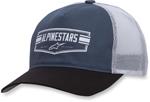 Alpinestars EMBLEM Curve-bill Snap-Back Trucker Hat/Cap (Blue)