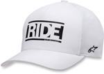 Alpinestars RIDE Curve-bill Flex-Fit Hat/Cap (White)