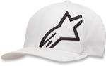 Alpinestars CORP SHIFT 2 Curve-bill Flex-Fit Hat/Cap (White/Black)