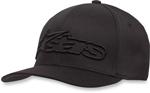 Alpinestars BLAZE Curve-bill Flex-Fit Hat/Cap (Black/Black)
