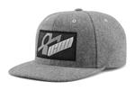 ICON MotoSports SIQ WHOOLY Snapback Flat-Bill Hat/Cap       (Grey)