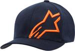 Alpinestars Corp Shift 2 Curved Bill Flex-Back Hat/Cap (Navy/Orange)