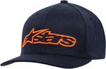 Alpinestars BLAZE Curved Bill Flex-Back Hat/Cap (Navy/Orange)