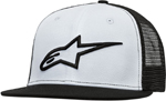 Alpinestars CORP Mesh Curved Bill Snap-Back Hat/Cap (Black/White)