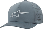 Alpinestars AGELESS Lazer Tech Curved Bill Flex-Back Hat/Cap (Gray)