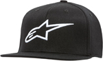 Alpinestars AGELESS Flat Bill Flex-Back Hat/Cap (Black/White)