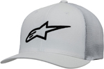 Alpinestars AGELESS Stretch Mesh Curved Bill Flex-Back Hat/Cap (White/Black)