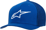 Alpinestars AGELESS Stretch Mesh Curved Bill Flex-Back Hat/Cap (Blue/White)