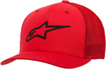 Alpinestars AGELESS Stretch Mesh Curved Bill Flex-Back Hat/Cap (Red/Black)