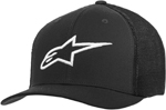 Alpinestars AGELESS Stretch Mesh Curved Bill Flex-Back Hat/Cap (Black/White)