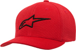 Alpinestars AGELESS Mock Mesh Curved Bill Flex-Back Hat/Cap (Red/Black)