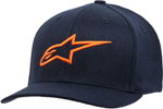 Alpinestars AGELESS Curve Flex-Back Hat/Cap (Navy/Orange)