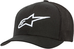 Alpinestars Women's AGELESS  Curved-Bill Strap-Back Hat/Cap (Black/White)