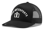 Icon Motosports ARC Curve Bill Snapback Hat/Cap (Black)