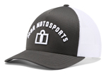 Icon Motosports ARC Curve Bill Snapback Hat/Cap (Grey)