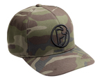 Thor MX Motocross Iconic Curved-Bill FlexFit Hat/Cap (Camo Green)