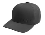 Thor MX Motocross Prime Curved-Bill FlexFit Hat/Cap (Black)