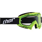 THOR MX Motocross ENEMY Youth Goggles (Splatter Green)