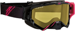 Arctiva VIBE Goggles (Black/Pink w/Dual Pane Yellow Lens)