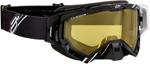 Arctiva VIBE Goggles (Black/White w/Dual Pane Yellow Lens)