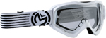 Moose Racing MX Off-Road Qualifier Slash Goggles (White/Black w/ Clear Lens)