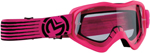 Moose Racing MX Off-Road Youth Qualifier Slash Goggles (Pink/Black w/ Clear Lens)