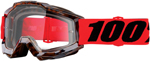 100% MX Motocross ACCURI Goggles (Vendome w/Clear Lens)