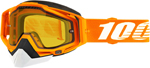100% RACECRAFT Snow Goggles (Crush 2 w/Vented Dual Pane Yellow Lens)