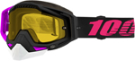 100% RACECRAFT Snow Goggles (Haribo 2 w/Vented Dual Pane Yellow Lens)