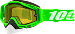 100% RACECRAFT Snow Goggles (Organic 2 w/Vented Dual Pane Yellow Lens)