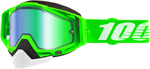 100% RACECRAFT Snow Goggles (Organic 2 w/Green Mirror Lens)