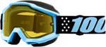 100% ACCURI Snow Goggles (Taichi w/Dual Pane Yellow Lens)