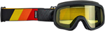 Biltwell Inc Overland 2.0 Tri-Stripe Goggles (Red/Yellow/Orange)
