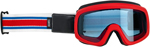 Biltwell Inc Overland 2.0 Racer Goggles (Red/White/Blue)