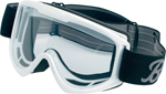 BILTWELL MOTO Motorcycle Helmet Goggles (White)