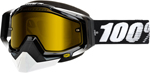 100% Snow Snowmobile RACECRAFT Goggles (Black w/ Anti-Fog Dual Pane Yellow Lens)