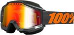 100% Snow Snowmobile ACCURI Goggles (Gray w/ Anti-Fog Mirror Red Lens)