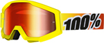 100% MX Motocross STRATA Goggles (SUNNY DAYS w/ Anti-Fog Mirror Red Lens)