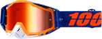 100% MX Motocross RACECRAFT Goggles (DERESTRICTED w/ Anti-Fog Mirror Red Lens)