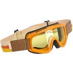 Biltwell Inc Overland Motorcycle Helmet Goggles (Orange/Brown)