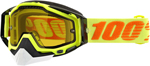 100% Snow Snowmobile RACECRAFT Goggles (Flo Yellow w/Anti-Fog Yellow Lens) Adult