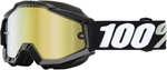 100% Snow Snowmobile ACCURI Goggles (TORNADO w/Anti-Fog Mirror Gold Lens) Adult