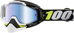 100% Snow Snowmobile RACECRAFT Goggles (EMRATA w/Anti-Fog Mirror Blue Lens) Adult