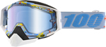 100% Snow Snowmobile RACECRAFT Goggles (HYPERLOOP w/Anti-Fog Mirror Blue Lens) Adult