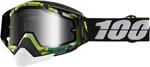 100% Snow Snowmobile RACECRAFT Goggles (BOOTCAMP w/Anti-Fog Mirror Silver Lens) Adult