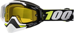 100% Snow Snowmobile RACECRAFT Goggles (EMRATA w/Anti-Fog Yellow Lens) Adult
