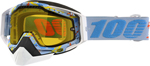 100% Snow Snowmobile RACECRAFT Goggles (HYPERLOOP w/Anti-Fog Yellow Lens) Adult