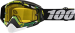 100% Snow Snowmobile RACECRAFT Goggles (BOOTCAMP w/Anti-Fog Yellow Lens) Adult