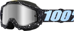 100% Snow Snowmobile ACCURI Goggles (MILKYWAY w/Anti-Fog Mirror Silver Lens) Adult
